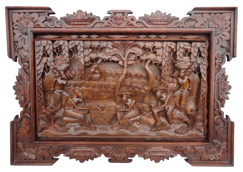 Wholesale of bali wooden wall plaque or